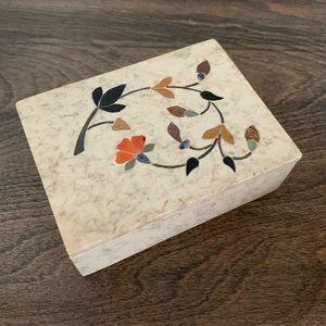 Trinket box with inlays